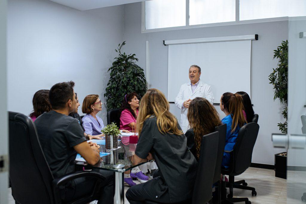hospital employee meeting